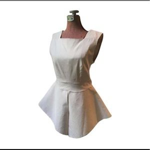 Classy Peplum Off White Dress